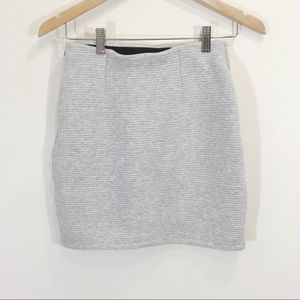 Wilfred Free Grey Ribbed Mini Skirt Size Small
